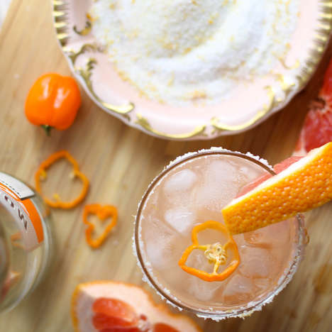 Spicy Grapefruit Cocktails - This Habanero Pepper and Grapefruit Margarita is a Spicy Summery Drink
