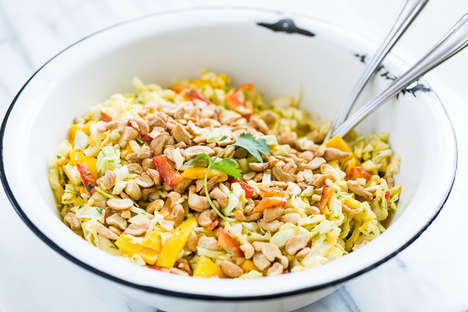 Coconut Mango Coleslaws - This Thai Slaw Recipe is a Yummy Side Dish at Any Barbecue This Summer