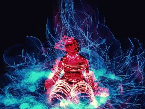 Light-Wrapped Human Portraits - This Artist Uses Long-Exposure to Freeze Hectic City Scenes