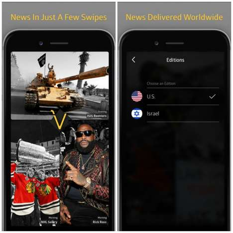 Visual News Apps - Global News App Vizo Briefly Summarizes Top Stories With Image-Based Content