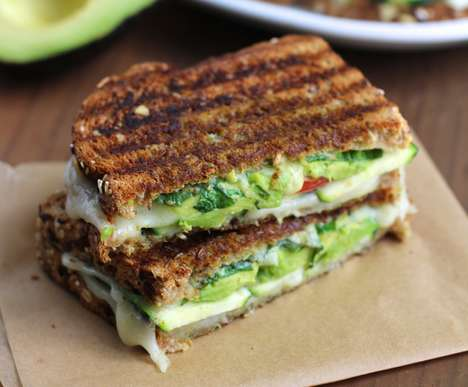 Veggie-Packed Grilled Cheeses - This Tasty Avocado Grilled Cheese Sandwich Reinvents a Classic Lunch