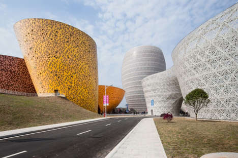 Vase-Mimicking Buildings - The Spherical Buildings in This Complex House a Museum and a Hotel