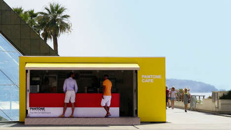 Color-Coded Coffee Shops - This Pantone-Themed Colorful Cafe is For Bright Color Enthusiasts
