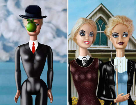 Female-Empowering Doll Art - This Artist Recreated Male-Focused Paintings Using Barbie Dolls