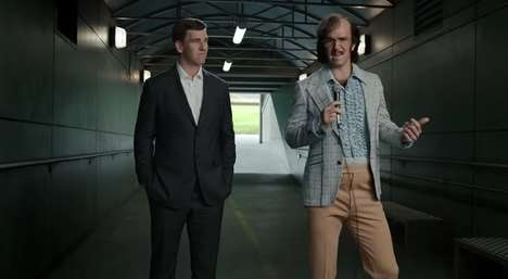 Humorous Athlete Ads - Eli Manning Channels a Bad Comedian in DirecTV's Latest Commercial