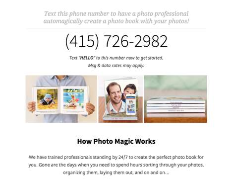 Text Message Publishing Services - You Can Text This Photo Book Publishing Company to Get Your Own