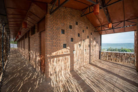 Eucalyptus-Enclosed Houses - This Housing Complex was Built for Doctors and Nurses in Rwanda