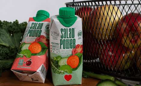 Drinkable Salad Beverages - SaladPower's Beverage Helps You Drink Your Vegetables