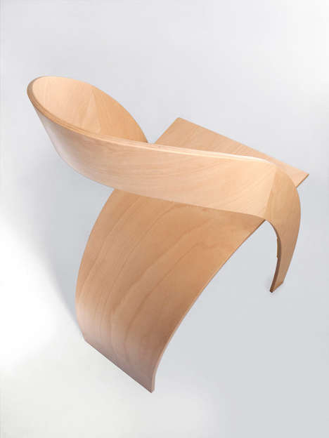 Curvacious Plywood Chairs - These Sleek Chairs are Made from Only Two Sections of Curved Wood