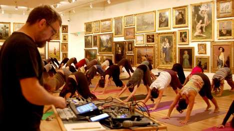 Ambient Yoga Classes - These Unique Yoga Classes are Set to the Sounds of Industrial Sludge