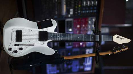 Digitally Equipped Guitars - The Lineage MIDI Guitar Features an LCD Graphical User Interface
