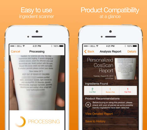 Beauty Product Pairing Apps - The CosScan App Assesses the Compatibility of Skin & Beauty Products