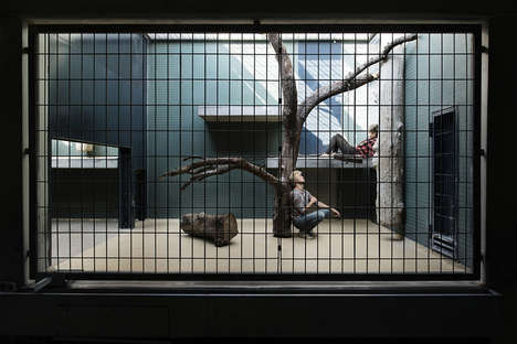 Caged Human Photography - This Photography Project by Patrice Letarnec Puts People Into Cages