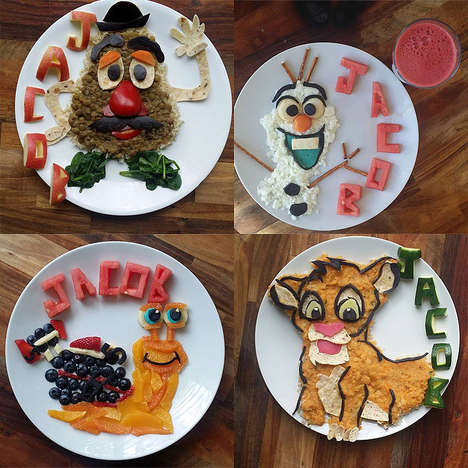 Healthy Cartoon-Themed Snacks - This Mom Makes Kid-Friendly Snacks in the Shape of Iconic Cartoons
