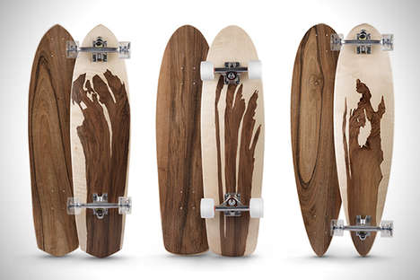 Waterproof Wooden Skateboards - The Newest Line of Murksli Boards Comes in Five Unique Styles