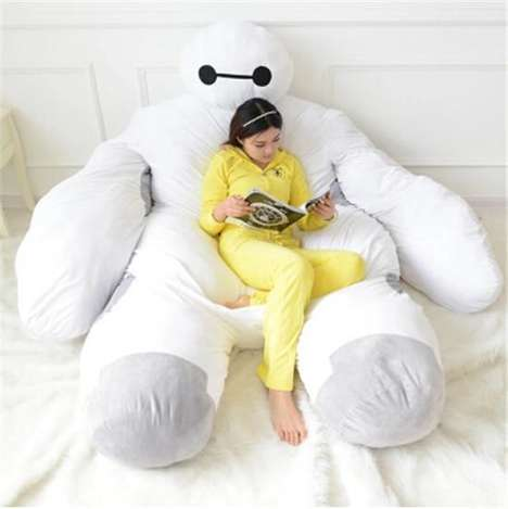 Plush Robot Napping Beds - This Baymax Bed is Based on a Character from Disney's Big Hero 6 Flick