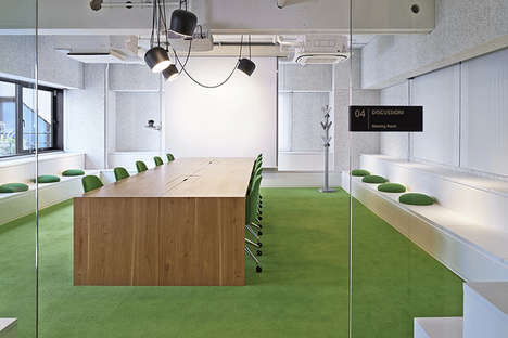 Grassy Meeting Rooms - Plenus Inc.'s Workplace Design Brings the Outdoors in with Natural Materials