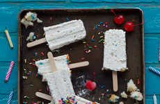 Cheesecake-Flavored Popsicles - These Creamy Ice Pops are Inspired by Funfetti Cheesecake