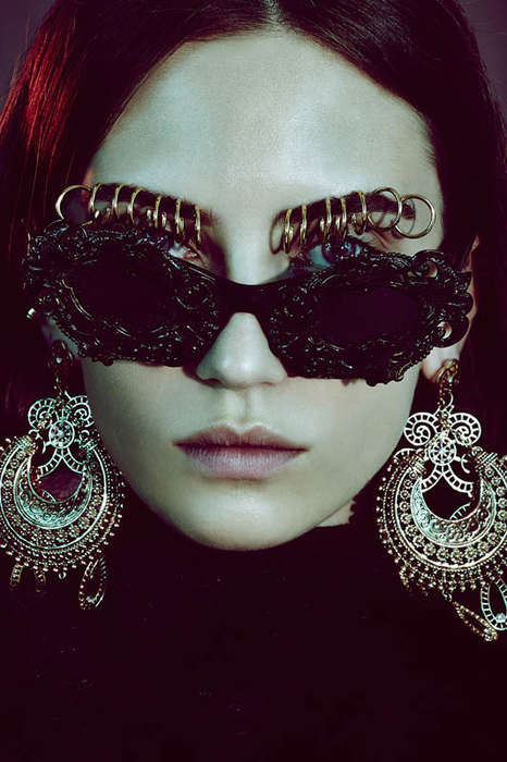 Opulent Accessory Editorials - TUSH Magazine's Latest Exclusive Highlights Heavy Jewelry Pieces