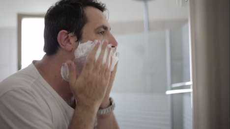 Emotional Beard-Shaving Ads - This M6 Razor Ad Shows a Man Shaving His Beard After 14 Years