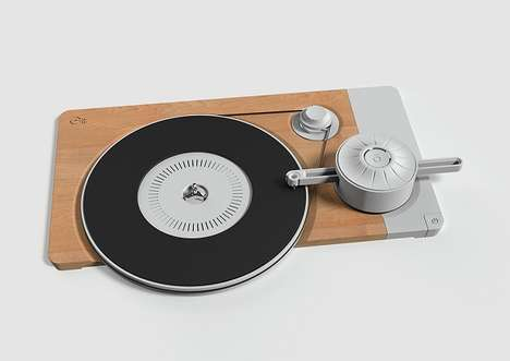 Minimalist Record Players - This Turntable Design Concept Lets You See How the Inside Works