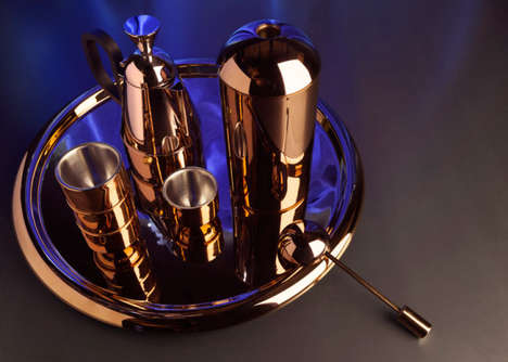 Copper-Covered Coffee Sets - This Luxury Coffee Brewer and Accessories are Created by Tom Dixon