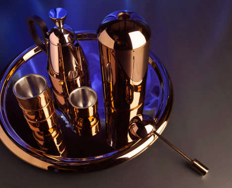 Copper-Covered Coffee Sets
