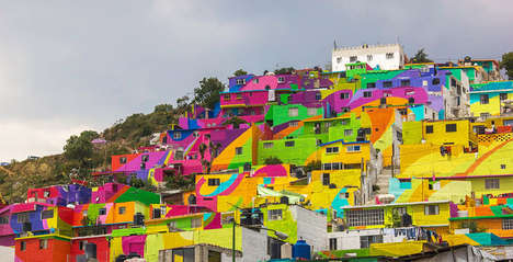 Vibrant City-Wide Murals - This City Hired Local Artists to Turn a Town into a Rainbow Mural