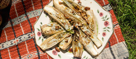 Cheesy Grilled Endives - These Grilled Blue Cheese-Stuffed Endives Make a Flavorful Barbecue Dish