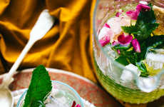 Floral Moroccan Sangrias - The Best Summer Cocktail Contains Rose Petals and Elderberry Liqueur