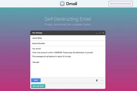 Ephemeral Email Extensions - This Chrome Plugin Offers Self-Destructing Email for Sensitive Content