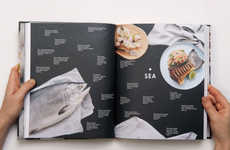 Map Guided Cookbooks - This Recipe Guide Uses Food Photography in a Map-Like Style