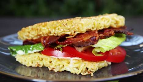 Ramen Buns BLTs - The Buzzfeed BLT Sandwich Tutorial Shows You How to Make Ramen Noodle Buns
