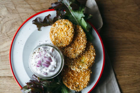 Oven-Fried Tomato Medallions - This Recipe For Fried Green Tomatoes Comes With a Garlicky Yogurt Dip