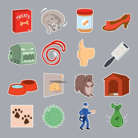 Creative Canine Emojis - These Dog Emojis Use Pet-Friendly Icons to Convey Personable Conversations