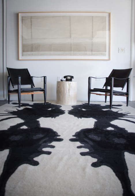 Inkblot Rug Collections - These Carpets are Based on Rorschach's Famous Inkblot Tests
