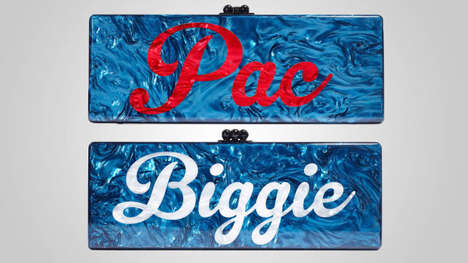 Hip-Hop-Inspired Clutches - These Handbags by Goop Feature Glittery Artist Names like Pac & Biggie