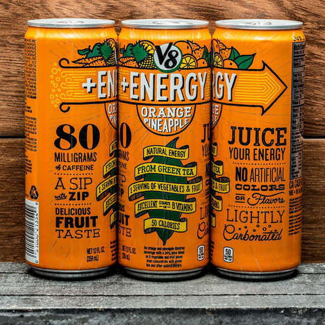 Fruity Energy Drinks - V8's Energy Drink Can is Filled with Fruity Flavor and a Shot of Caffeine