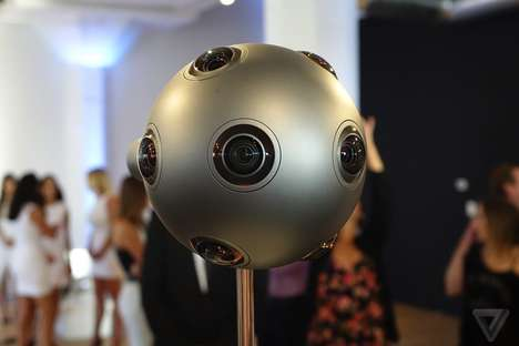 Virtual Reality Cameras - The Nokia Ozo Captures 360 Degree Audio and Video Used for Virtual Reality