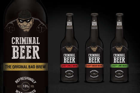 Burglar-Branded Beer - This Criminal Beer Brewing Company Uses a Cartoon Burglar Mascots