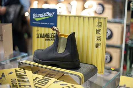 Co-Branded Motorcycle Boots - Blundstone Teams Up with Ducati to Honor the Iconic Scrambler