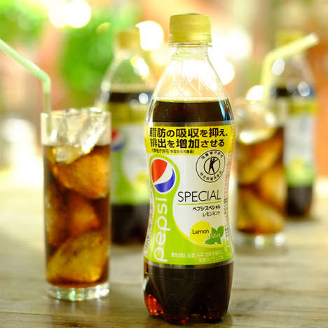 Herbal Citrus Sodas - This Pepsi Product in Japan Tastes Like Refreshing Lemon and Mint