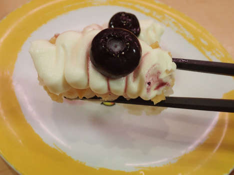 Blueberry Dessert Sushi - Genki Sushi's Sweet Sushi Dish Uses Cream Cheese, Cereal & Berries