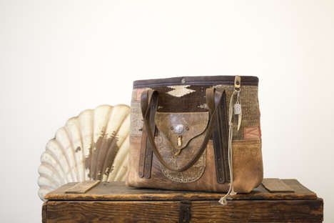 Upcycled Fabric Accessories - These Vintage Bags & Accessories Feature WWII Military Canvas Fabrics