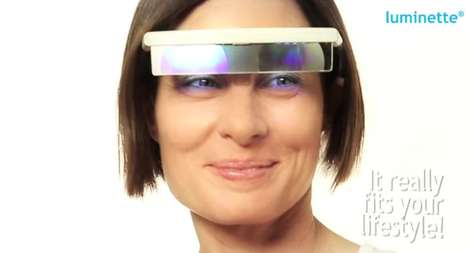 Portable Light Therapy Shades - Luminette Smart Glasses Enhance a User's Mood and Well-Being