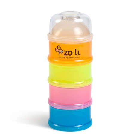 Stacked Snack Dispensers - Zoli's Baby Food Containers Store and Separate Snacks Conveniently
