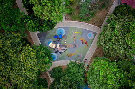 Drone-Photographed Playgrounds - This Photographer Used a Drone to Capture Aerial Park Images
