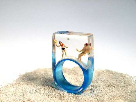 Beach-Inspired Jewelry - This Jewelry Collection Features Little Scenes from Summer Holidays