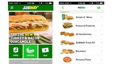Pre-Ordering Sandwich Apps - This New App from Subway Allows Users to Remotely Order Sandwiches