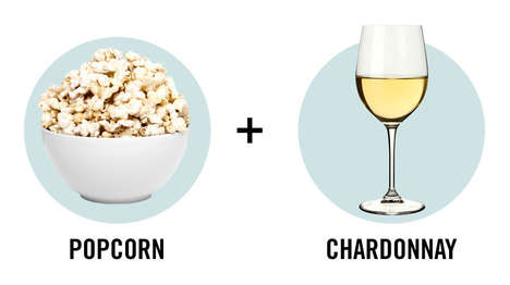 Snacking Wine Guides - This Infographic Pairs Junk Food and Wine for the Prefect Girls' Night In